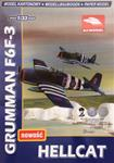 AJ MODEL GRUMMAN F6F3 HELLCAT PAPER MODEL KIT 1/33