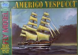 FM AMERIGO VESPUCCI PAPER MODEL KIT SCALE 1/100