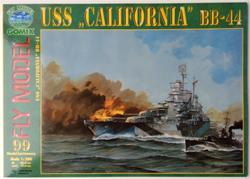 FM USS CALIFORNIA BB-44 PAPER MODEL KIT SCALE 1/200