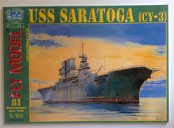 FM USS SARATOGA (CV-3) PAPER MODEL KIT IN 1/200 SCALE