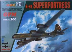 GPM B-29 SUPERFORTRESS PAPER MODEL KIT SCALE 1/33