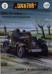WEKTOR Kfz. 13 Adler German Armored Car Paper Model Kit 1/25