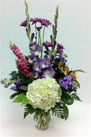 Purple White Pink Seasonal Vase