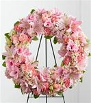 Best of the Season Standing Wreath Pink