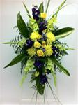 Best of the Season Standing Spray Yellow and Purple