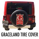 Custom Graceland Portable Buildings Logo Tire Cover