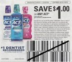 Act Rinse Product Coupon 4/30