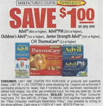 Advil, Advil PM, Children's, ThermaCare Coupon 8/3