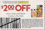 Air Wick Candles or Wax Melts $2/2 Coupon 5/17
