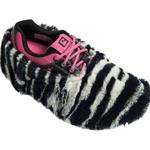 Brunswick- Fun Shoe Cover-Fuzzy Zebra