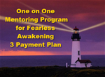 Three month 1 on 1  Mentoring Program monthly payment plan 3@ $850/month.