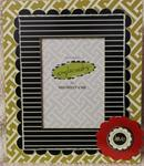 5x7 Green frame red love