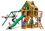 Chateau Treehouse Swing Set w/ Fort Add-On and Timber Shield™