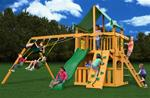 Chateau Clubhouse Swing Set w/ Amber Posts