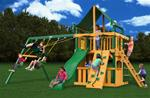 Chateau Clubhouse Swing Set w/ Timber Shield™ with Sunbrella® Canvas Forest Green Canopy