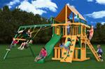 Chateau Clubhouse Swing Set with Timber Shield™ with Sunbrella® Weston Ginger Canopy