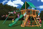 Chateau Swing Set w/ Timber Shield™ and Deluxe Green Vinyl Canopy