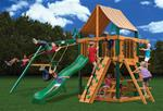 Chateau Swing Set w/ Timber Shield™ and Sunbrella® Weston Ginger Canopy