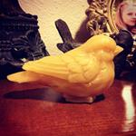 Beeswax  Bird Candle