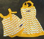 Girls LSU Chevron Dress