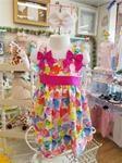 0998 Girls Hearts sundress/Bows on sleeves