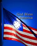 God Bless America (Bright Flag)