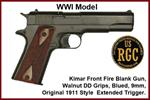 FRONT FIRE: 9mm Blank Gun: Kimar 1911 World War One Model