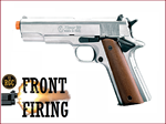 FRONT FIRE: 9mm Blank Gun: Kimar 1911 Nickel