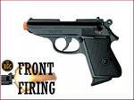 FRONT FIRE: 9mm Blank Gun: Kimar 1931 Walther PPK Blued