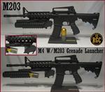 Custom M4 / M203 Combo ALL METAL INERT Training Weapon