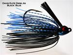 Davis Elite Swim Jig, 1/4 oz, Black Blue Craw