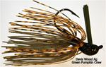 Davis Wood Jig, 1/2  oz, Green Pumpkin Crawfish