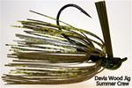 Davis Wood Jig, 1/2  oz, Summer Craw