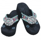 Women's Aztec Fashion Wedge Flip Flops