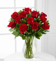 2 dz red roses arranged