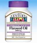 21st Century Flaxseed Oil 1000mg Softgels