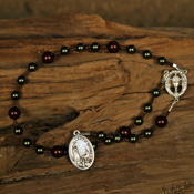 Fatima Chaplet with Swarovski Pearls and Base Metal