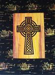 "Celtic Cross kit with black Viking border 30"" x 24"""