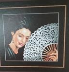 "Woman with a Fan - ""Culture"" cross stitch collection from Lanarte"
