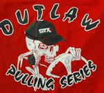 Outlaw Puling Series 2X-Large Red T-shirt