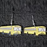 Blue Bird All American Transit School Bus Earrings
