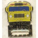 On The Road To Learning ID Badge Holder Pin