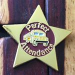 Perfect Attendance School Bus Pin