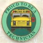 Proud to be a School Bus Technician Pin