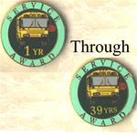 Service Award Pins Years 1-50