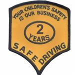 2 Years Safe Driver Award Patches