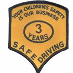 3 Years Safe Driver Award Patches