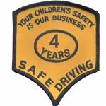 4  Years Safe Driver Award Patches