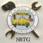 School Bus Technician, Crossed Wrenches Pin