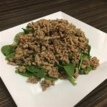 6 OZ Lean Ground Turkey, 2 cups of Spinach